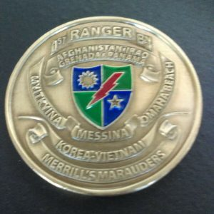 1st Army Range Battalion Challenge Coin Global War on Terror front
